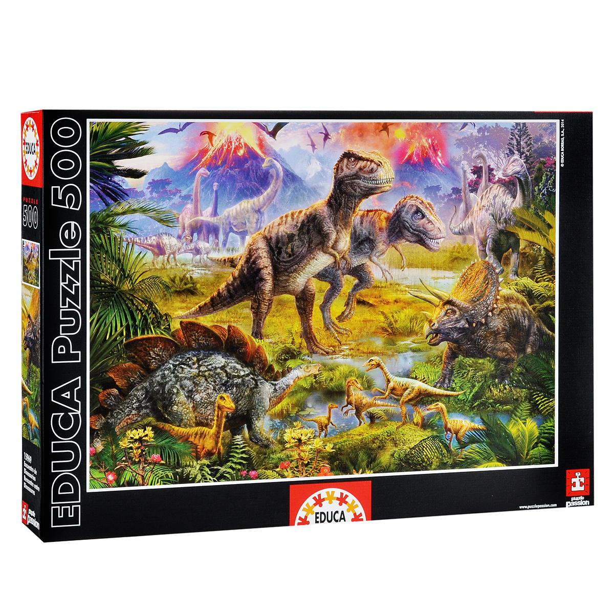 Встреча динозавров. Пазл, 500 элементов15969Пазл Встреча динозавров несомненно придется вам по душе. Собрав этот пазл, включающий в себя 500 элементов, вы получите великолепную картину с изображением различных динозавров. В комплект входит специальный клей, представляющий собой порошок, который перед применением требуется развести водой. Он надежно склеивает собранный пазл и не оставляет следов на поверхности картинки. Пазлы - прекрасное антистрессовое средство для взрослых и замечательная развивающая игра для детей. Собирание пазла развивает у ребенка мелкую моторику рук, тренирует наблюдательность, логическое мышление, знакомит с окружающим миром, с цветом и разнообразными формами, учит усидчивости и терпению, аккуратности и вниманию. Собирание пазла - прекрасное времяпрепровождение для всей семьи.
