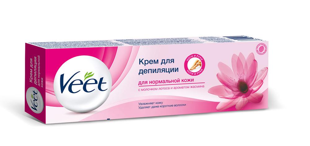 Veet Крем для депиляции, c молочком лотоса и ароматом жасмина, для нормальной кожи, 100 мл