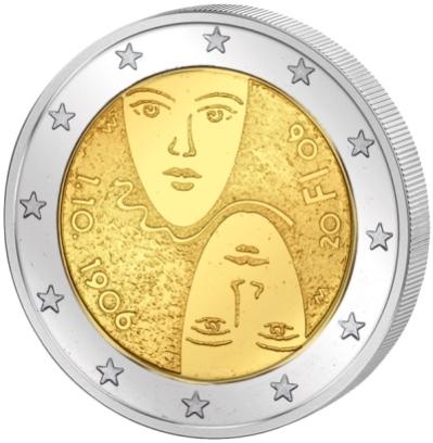 Монета номиналом 2 евро 100 лет введения полноценного избирательного права. Финляндия, 2006 годF30 BLUEМонета номиналом 2 евро 100 лет введения полноценного избирательного права. Финляндия, 2006 год Диаметр 2,5 см. Сохранность UNC (без обращения).