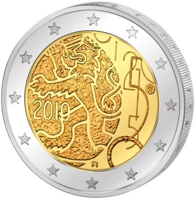 Монета номиналом 2 евро 150 лет финской валюте. Финляндия, 2010 годF30 BLUEМонета номиналом 2 евро 150 лет финской валюте. Финляндия, 2010 год Диаметр 2,5 см. Сохранность UNC (без обращения).