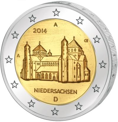 Монета номиналом 2 евро Нижняя Саксония. Монетный двор D. Германия, 2014 годF30 BLUEМонета номиналом 2 евро Нижняя Саксония. Монетный двор D. Германия, 2014 год Диаметр 2,5 см. Сохранность UNC (без обращения).