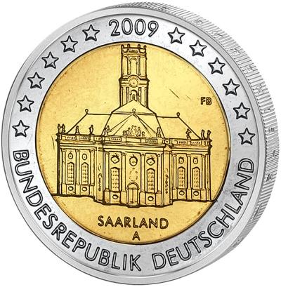Монета номиналом 2 евро Федеральная земля Саар. Германия, 2009 годF30 BLUEМонета номиналом 2 евро Федеральная земля Саар. Германия, 2009 год Диаметр 2,5 см. Сохранность UNC (без обращения).