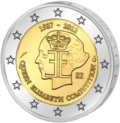 Монета номиналом 2 евро 75 лет конкурсу имени Королевы Елизаветы. Бельгия, 2012 годF30 BLUEМонета номиналом 2 евро 75 лет конкурсу имени Королевы Елизаветы. Бельгия, 2012 год Диаметр 2,5 см. Сохранность UNC (без обращения).
