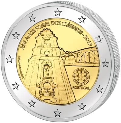 Монета номиналом 2 евро 250 лет башне Клеригуш. Португалия, 2013 годF30 BLUEМонета номиналом 2 евро 250 лет башне Клеригуш. Португалия, 2013 год Диаметр 2,5 см. Сохранность UNC (без обращения).