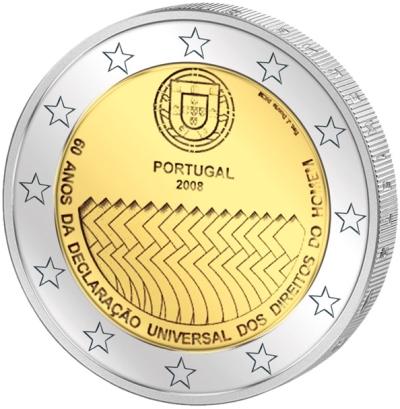 Монета номиналом 2 евро 60 лет Декларации прав человека. Португалия, 2008 годF30 BLUEМонета номиналом 2 евро 60 лет Декларации прав человека. Португалия, 2008 год Диаметр 2,5 см. Сохранность UNC (без обращения).