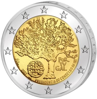 Монета номиналом 2 евро Председательство в ЕС. Португалия, 2007 годF30 BLUEМонета номиналом 2 евро Председательство в ЕС. Португалия, 2007 год Диаметр 2,5 см. Сохранность UNC (без обращения).
