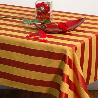 Скатерть Schaefer, прямоугольная, 135 x 170 см. 06023-40206023-402Прямоугольная скатерть Schafer выполнена из натурального полиэстера и оформлена рисунком в классическую полоску в бордово-горчичных тонах. Эта скатерть станет украшением вашей кухни или веранды в вашем доме. Очень позитивная расцветка добавит массу позитивных эмоций вам и вашим гостям!