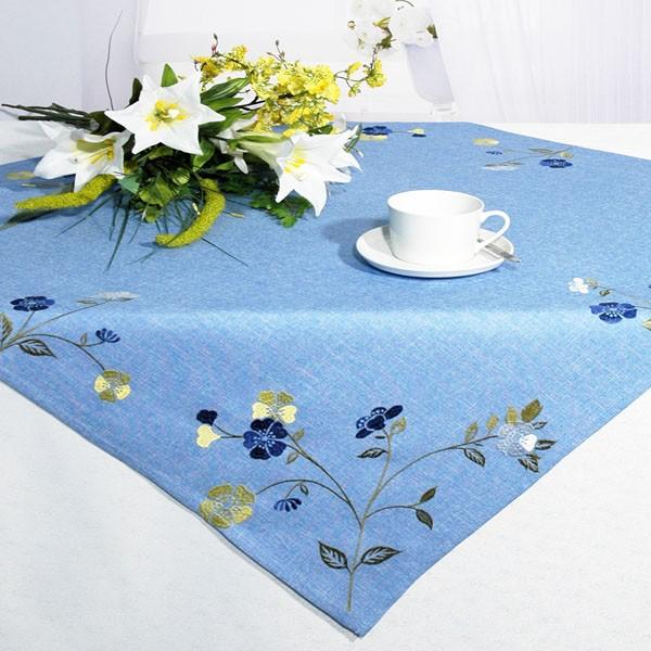 """Скатерть """"Schaefer"""", квадратная, цвет: голубой, 85 x 85 см. 07244-100"""