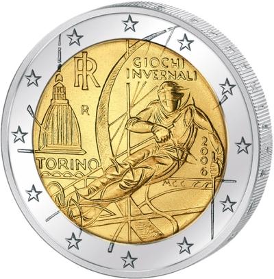 Монета номиналом 2 евро Олимпиада в Турине. Италия, 2006 годF30 BLUEМонета номиналом 2 евро Олимпиада в Турине. Италия, 2006 год Диаметр 2,5 см. Сохранность UNC (без обращения).