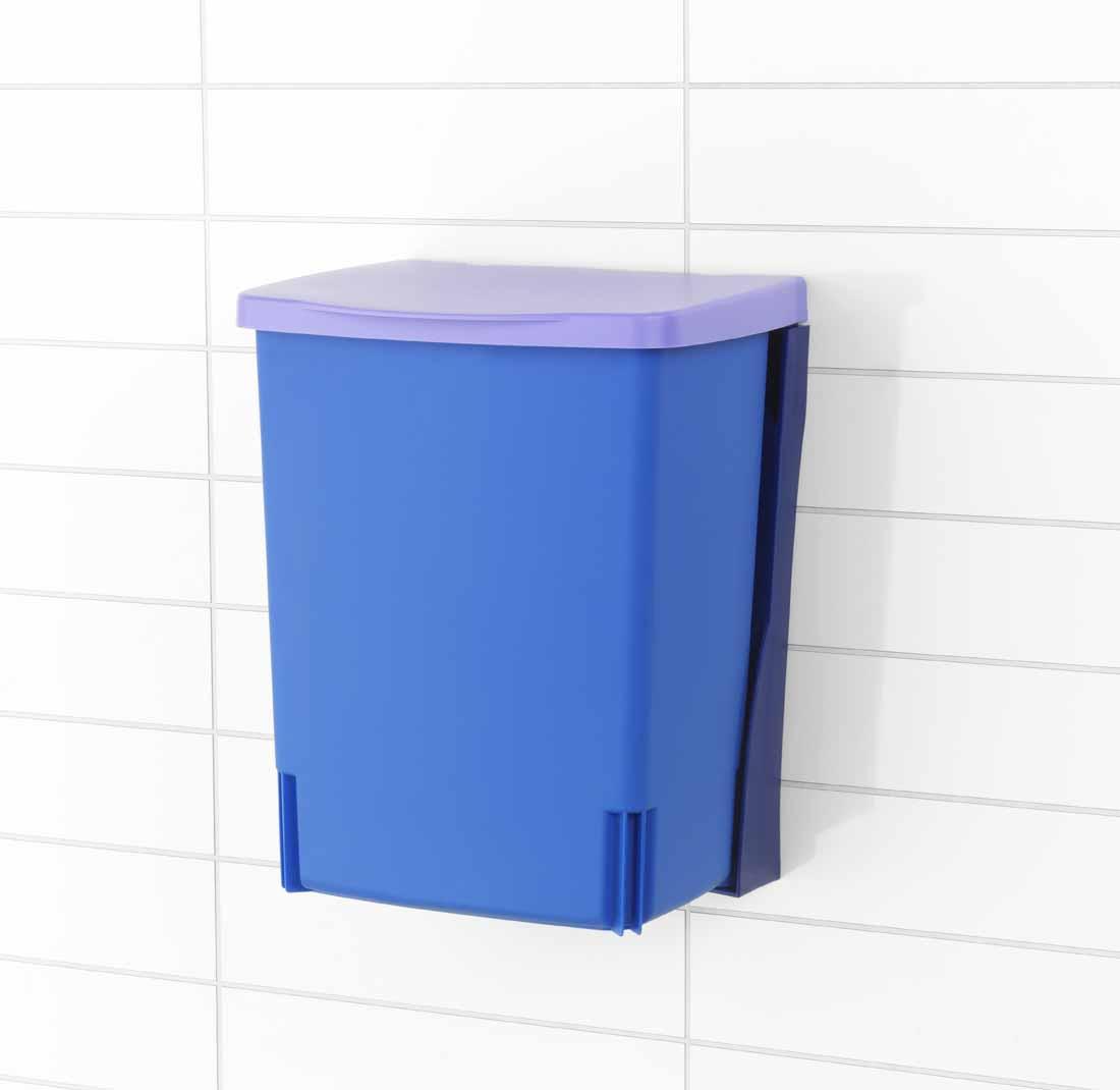 Ведро для мусора Brabantia, встраиваемое, цвет: лавандовый, 10 л482243Встраиваемое ведро для мусора Brabantia, выполненное из прочного пластика, обеспечит долгий срок службы и легкую чистку. Ведро поможет вам держать мелкий мусор в порядке и предотвратит распространение неприятного запаха. Откидная пластиковая крышка открывается и закрывается бесшумно и плотно прилегает к ведру. Ведро предназначено для подвешивания на стену (крепежные элементы входят в комплект).