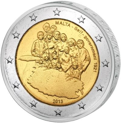 Монета номиналом 2 евро Первое собственное правительство 1921 г.. Мальта, 2013 годF30 BLUEМонета номиналом 2 евро Первое собственное правительство 1921 г.. Мальта, 2013 год Диаметр 2,5 см. Сохранность UNC (без обращения).