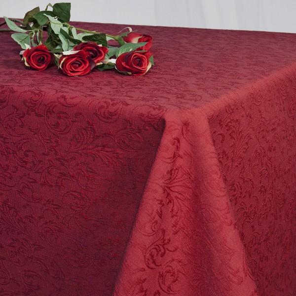 Скатерть Schaefer, прямоугольная, цвет: темно-красный, 130 x 170 см. 41274127/FB.14-130*170Великолепная скатерть Schaefer, выполненная из полиэстера, органично впишется в интерьер любого помещения, а оригинальный дизайн удовлетворит даже самый изысканный вкус. Скатерть изготовлена из материала темно-красного цвета с орнаментом и обладает жироводооталкивающими свойствами. Это текстильное изделие станет удобным и оригинальным украшением вашего дома!