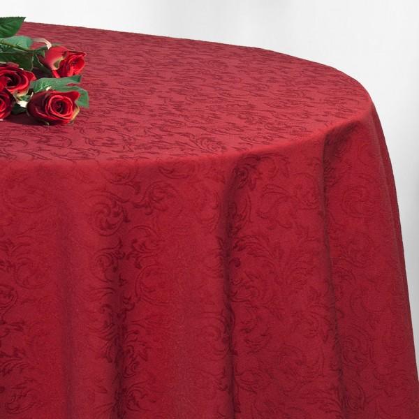 Скатерть Schaefer, овальная, цвет: бургундский, 170 x 225 см. 4127/FB4127/FB.14-170*225-овалВеликолепная скатерть Schaefer, выполненная из полиэстера и хлопка, органично впишется в интерьер любого помещения, а оригинальный дизайн удовлетворит даже самый изысканный вкус. Обладает жироводоотталкивающими свойствами. Это текстильное изделие станет удобным и оригинальным украшением вашего дома!