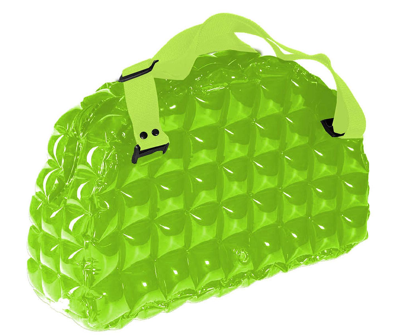 Сумка надувная спортивная Inflat Decor, цвет: лайм. 00220022 Lime GreenЯркая надувная сумка - великолепный аксессуар на лето! Сумка выполнена из ПВХ и снабжена ручками из полиэстера. Сумка легко надувается при помощи мини-насоса (входит в комплект) или рта. В сдутом виде сумка очень компактна и не займет много места. Надувная вместительная сумка - отличное решение для отдыха на пляже или похода в спортзал.