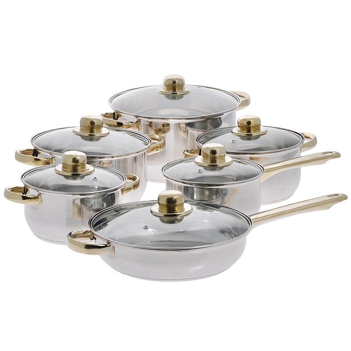Набор посуды Bekker Classic, 12 предметов. BK-202BK-202Набор Bekker Classic состоит из 4 кастрюль с крышками, ковша с крышкой и сковороды с крышкой. Изделия изготовлены из высококачественной нержавеющей стали 18/10 с зеркальной полировкой. Посуда имеет капсулированное термическое дно - совершенно новая разработка, позволяющая приготавливать здоровую пищу. В дне посуды имеется полость, позволяющая избежать процесса деформации под воздействием высоких температур. Благодаря уникальной конструкции дна, тепло, проходя через металл, равномерно распределяется по стенкам посуды. В процессе приготовления пищи нижний слой дна остается идеально ровным, обеспечивая идеальный контакт между дном посуды и поверхностью плиты. Быстрая проводимость тепла и экономия энергии обеспечивается за счет использования при изготовлении дна разнородных материалов, таких как алюминий и сталь. Проходя через стальной нижний слой, тепло мгновенно попадает на алюминиевый слой, где и происходит его равномерное распределение. Внутри дна концентрируется очень высокая...