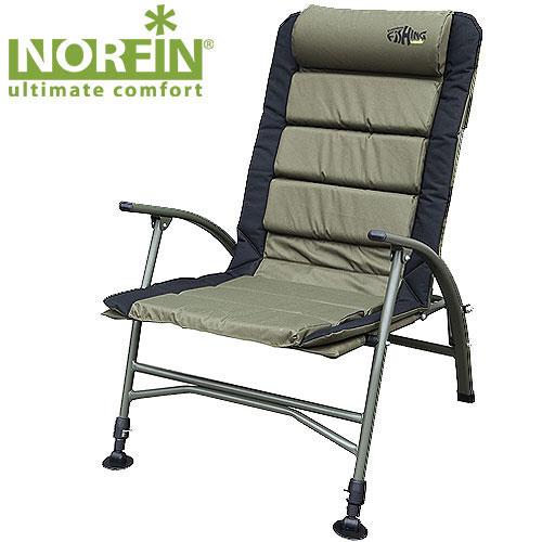 Кресло карповое Norfin Belfast NFNF-20603Кресло складное Norfin Belfast NF. Передние ножки с возможностью независимой регулировки высоты и широкими опорами, удобный мягкий подголовник, легко складывается и переносится. Отличный выбор для рыбаков. Характеристики: Материал: полиэстер, ПВХ, алюминий. Размер кресла: 54 см х 47 см х 42/99 см. Размер кресла в сложенном виде: 92 см х 67 см х 22 см. Максимальная нагрузка: 140 кг. Диаметр трубок каркаса: 1,8 см, 2,2 см.