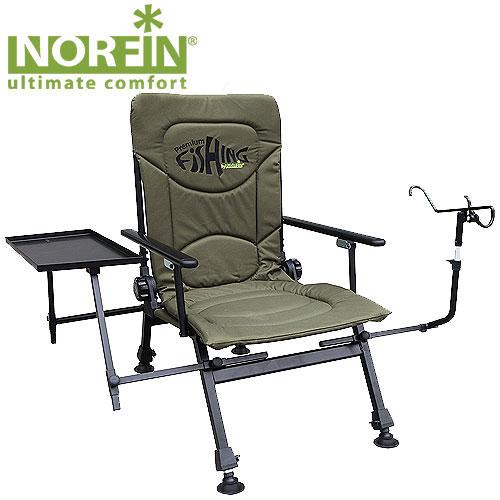 Кресло рыболовное Norfin Windsor NFNF-20601Кресло складное Windsor NF. Регулируемый наклон спинки, ножки с возможностью независимой регулировки высоты и широкими опорами. Кресло оборудовано небольшим столиком и держателем для удочек. Отличный выбор для рыбаков.
