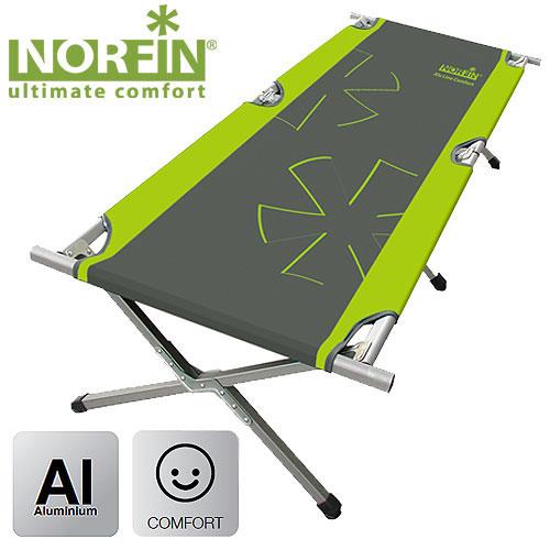 Кровать складная Norfin Aspern Comfort NFNF-20503Кровать складная расширенная. Обладает большими размерами в разложенном виде и устойчива к большим нагрузкам. Очень компактна в сложенном виде. Благодаря каркасу, изготовленному из алюминия, имеет небольшой вес.