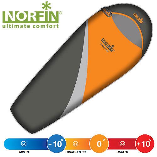 Мешок-кокон спальный Norfin SCANDIC 350 NS R, цвет: оранжевый/серый, правосторонняя молнияNS-30108Универсальный спальный мешок-кокон, идеальное сочетание веса, технологичности, комфорта. Рассчитан на три сезона использования. Особенности: -лента от закусывания ткани замком; -анатомический капюшон; -теплый воротник; -отделение под подушку с двумя входами; -возможность состегивать спальники; -планка, утепляющая молнию; -внутренний карман; -петли для просушки; -петля на замке для удобства открывания; -компрессионный мешок. Материал: внешний: Polyester 210T Diamond RipStop; Материал внутренний: Polyester 190T; Утеплитель: Super Loft 2x175g/m2.