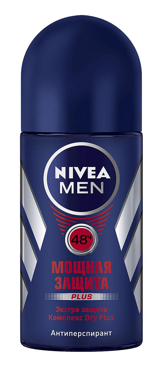 Дезодорант шариковый Nivea for Men Мощная защита, 50 мл81610Мужской дезодорант-антиперспирант Nivea for Men Мощная защита с минералами регулирует потоотделение в течение всего дня. Эффективная защита на 24 часа. Легкий мужской аромат. Не содержит спирт.