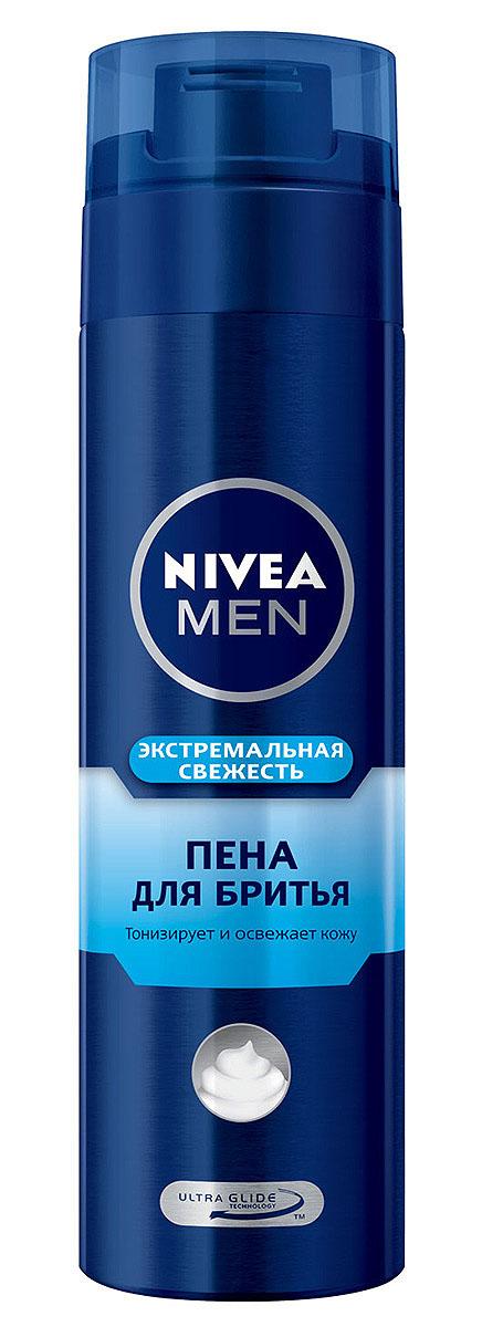NIVEA MEN Пена для бритья Экстремальная свежесть, 200 мл