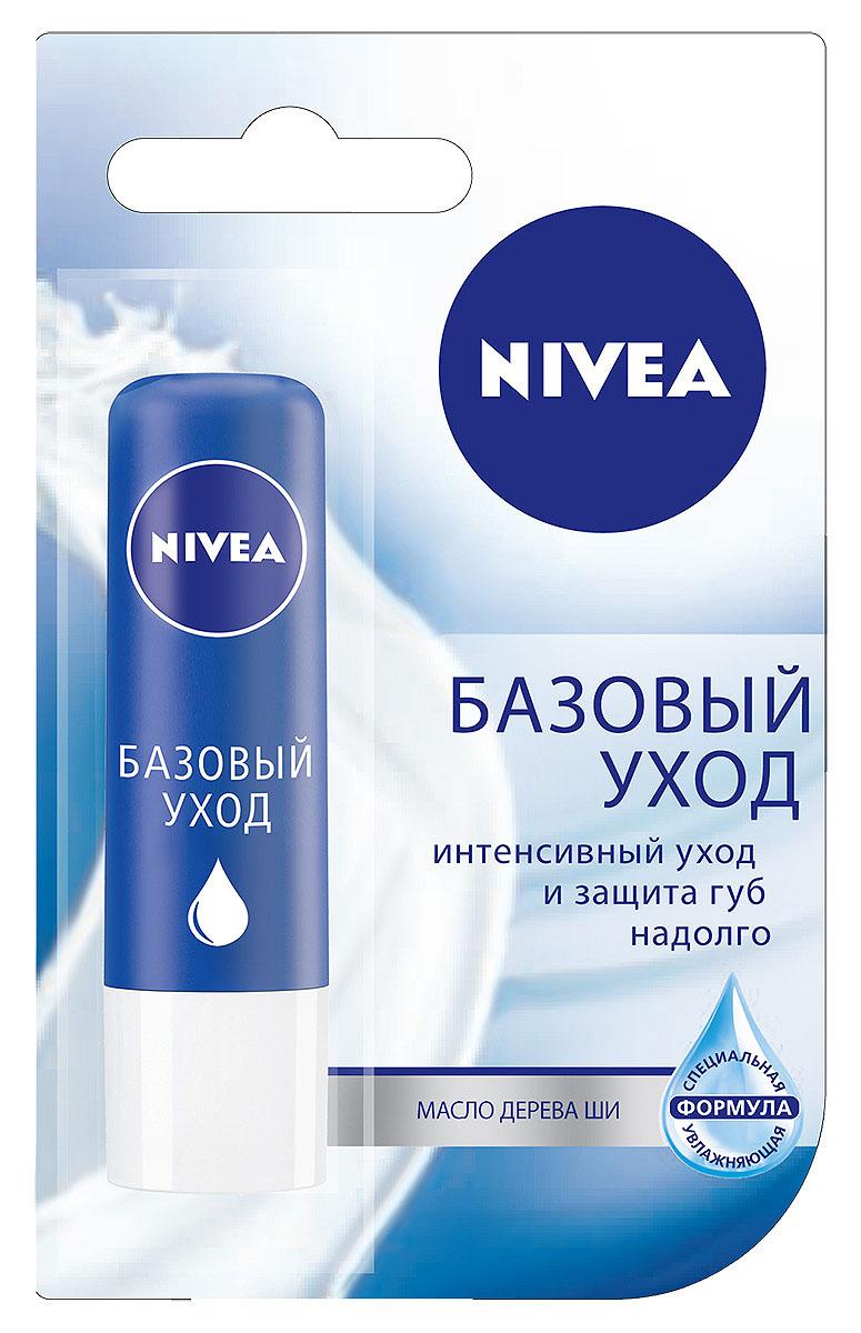 Бальзам для губ Nivea Базовый уход, 4,8 г10062030Бальзам Nivea Базовый уход обогащен питательным маслом жожоба и натуральным маслом дерева ши, ухаживает за Вашими губами и предотвращает потерю влаги, сохраняя их мягкими и нежными. Надолго обеспечивает интенсивный уход. Эффективно защищает ваши губы от высыхания в любую погоду.