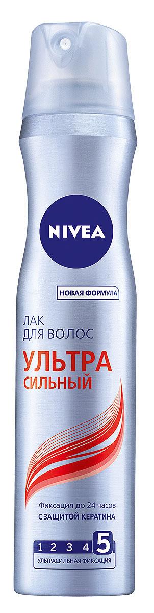 NIVEA Лак для волос «Ультра Сильный» 250 мл10062110Лак для волос Nivea Hair Care Ультра сильный с ультрасильной фиксацией придает волосам заметный блеск. Надежно фиксирует на протяжении всего дня. Сохраняет волосы мягкими и эластичными. Характеристики: Объем: 250 мл. Производитель: Германия. Артикул: 86803. Товар сертифицирован.