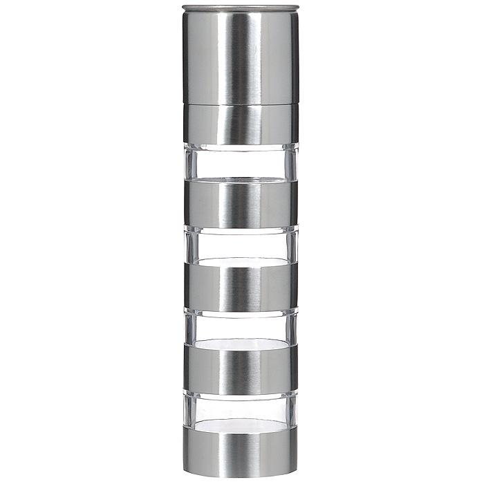 Мельница для специй Bradex Молинеро, четырехуровневаяTK 0061Механическая мельница Bradex Молинеро состоит из четырех контейнеров для хранения специй, нижней части с жерновами для измельчения и защитной крышки. Корпус выполнен из стали и акрила, механизм помола - высококачественная керамика. Мельница подходит для измельчения кориандра, перца, тимьяна, каменной соли. Чтобы измельчить специи, достаточно переставить контейнер с необходимыми для перемалывания специями в самый низ и соединить его с нижней частью, имеющей жернова. Мельница Bradex Молинеро сочетает в своем дизайне функциональность и простоту современных форм. Вы сможете не только перемалывать, но и хранить специи в этом приспособлении, а его современный внешний вид украсит любую кухню. Не рекомендуется мыть в посудомоечной машине при температуре свыше 50°С.