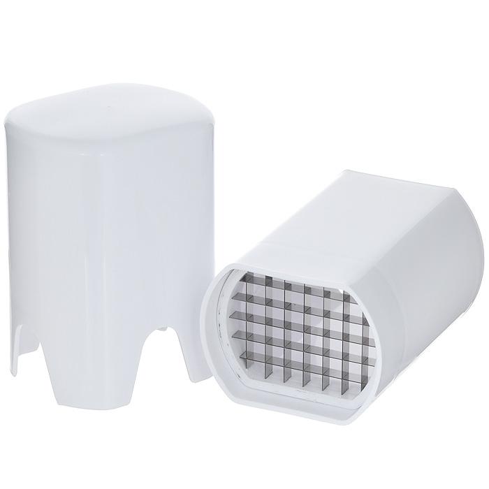 Овощерезка Bradex Кубик, цвет: белыйTK 0054Овощерезка Bradex Кубик, выполненная из пластика и нержавеющей стали, подходит для быстрой нарезки картофеля, свеклы, моркови, капусты кольраби, яблок и других продуктов. Может использоваться как для нарезки сырых, так и вареных продуктов. Овощерезка проста в использовании: положите вертикально продукт на лезвие и верхней частью (крышкой) надавите на него. Чтобы извлечь нарезанный продукт, поднимите нижнюю часть овощерезки. Пригодна для мытья в посудомоечной машине.