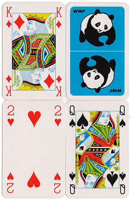 Игральные карты WWF. Колода 52 карты и 2 джокера. Бельгия, 1990-е гг.GI1295-00ALКарты игральные WWF. Колода: 52 карты и 2 джокера. Бельгия, 1990-е гг. Размер: 8,5 х 5,5 см. Оригинальная упаковка. Сохранность очень хорошая, карты новые не были в использовании.