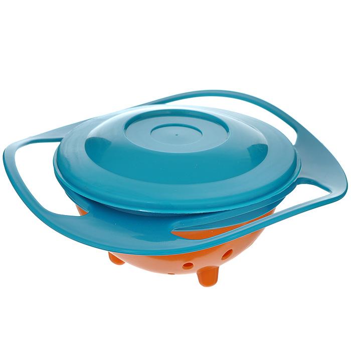 """Чашка Bradex """"Неваляшка"""" с крышкой, цвет: оранжевый, бирюзовый. TD 0103"""