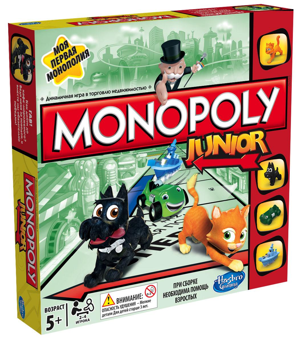 Настольная игра Моя первая монополия. A6984A6984121Монополия - одна из самых увлекательных настольных игр, которая обучает торговле недвижимостью. Изобретенная в Америке во времена великой депрессии, эта игра позволит вам распоряжаться большими деньгами и быстро разбогатеть. Моя первая монополия - это новая веселая версия Монополии, созданная специально для детей. Выигрывает тот, кто первым соберет свою башню империи! Дети становятся владельцами музея, магазином игрушек, кондитерской и другой недвижимостью, которая так привлекает маленьких непосед. Перед началом игры каждый участник должен выбрать одну из четырех разных фигурок (фишек). В ходе игры вы можете перемещаться по игровому полю, покупать собственность, которая вам понравится, и испытывая удачу. Когда у одного из игроков заканчиваются деньги, другие участники подсчитывают сбережения. Побеждает игрок, у которого больше всех денег. В комплект игры входит: игровое поле, 4 фишки, 48 значков Продано, 20 карточек Испытай удачу, 90 банкнот,...