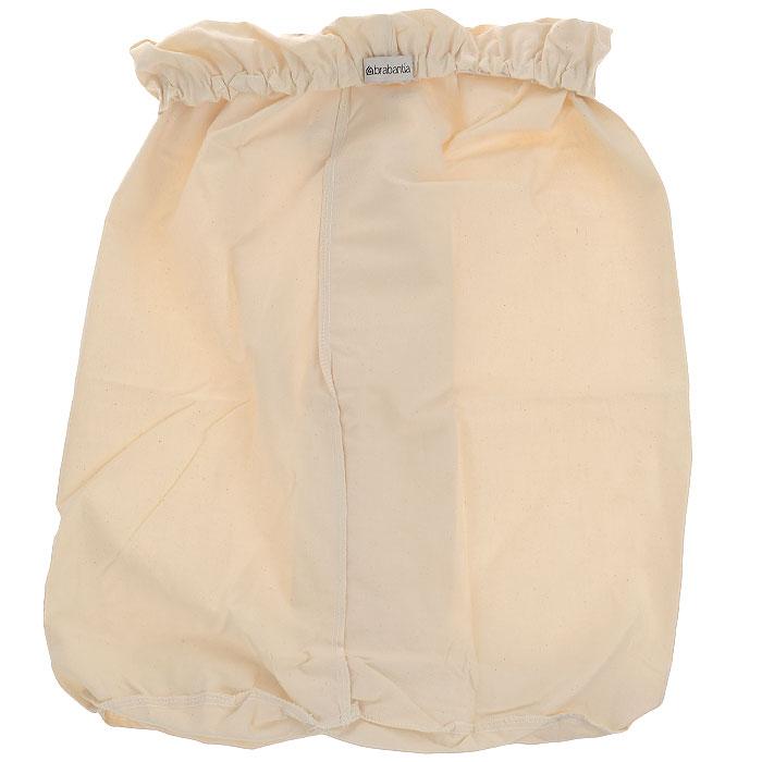 Мешок на бельевой бак Brabantia, 40 л. 382680382680Сменный мешок подойдет для двухсекционного бака для белья Brabantiaобъемом 40 литров. Этот мешок для белья цвета экрю изготовлен из прочной ткани (100% хлопок) и легко стирается. Благодаря эластичным прорезиненным краям мешок легко устанавливается и не соскальзывает в бак.