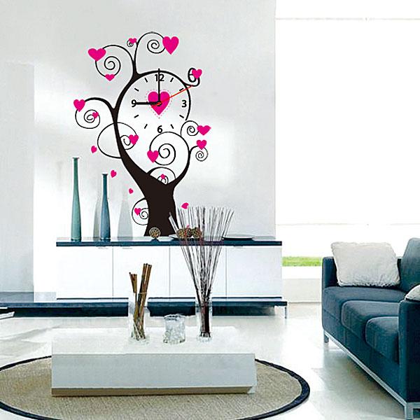 Настенные декоративные часы-стикеры Perfecto Дерево. GLM-T006GLM-T006Настенные декоративные часы-стикеры Дерево добавят в интерьер вашего дома оригинальности. Часы представляют собой стикер, выполненный из винила - тонкого эластичного материала, который хорошо прилегает к любым гладким и чистым поверхностям, легко моется и долго держится, после удаления не оставляет следов. Циферблат выполнен из плотного картона и имеет три стрелки - часовую, минутную и секундную, клеится к поверхности также при помощи стикера. Такие часы станут интересным дизайнерским решением не только спальни, гостиной или детской, но также и офиса.