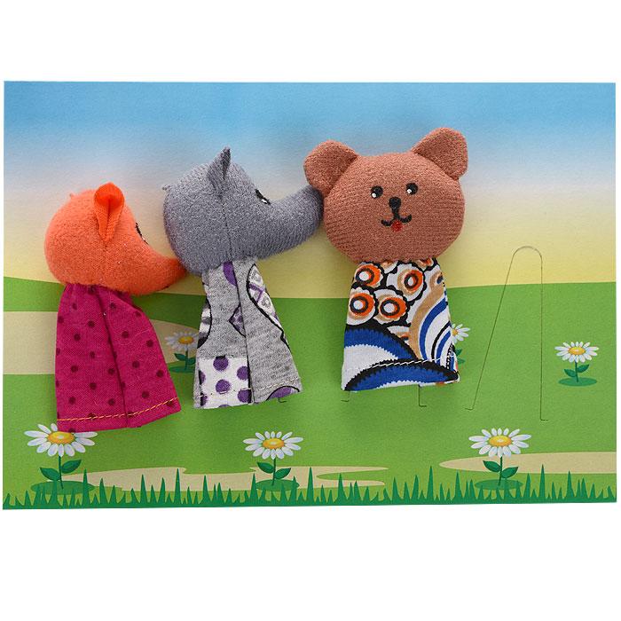 Пальчиковый театр Заюшкина избушка, 5 предметов017.08Пальчиковый театр Заюшкина избушка - это набор развивающих мягких игрушек, состоящий из надеваемых на пальцы рук фигурок. В комплекте пять пальчиковых кукол: зайчик, курочка, лиса, волк и медведь. Рекомендуем работать разными парами пальцев, разными руками и обеими руками одновременно. Фигурки изображают известных сказочных героев. Все персонажи очень яркие, мягкие. Маленькие фигурки пальчикового театра создадут вам компанию во время прогулки или посещения поликлиники, в дороге. Они не займут много места в маминой сумочке и помогут развлечь малыша. С их помощью можно оживить любимые стихи, сказки, потешки. Незамысловатая игрушка развивает интонацию, исполнительские умения, творческие способности в передаче образа, мелкую моторику. Театрализованные игры создают эмоциональный подъем, повышают жизненный тонус ребенка. Характеристики: Высота одной фигурки: 8 см Размер упаковки (ДхШхВ): 24 см x 27 см x 4 см.