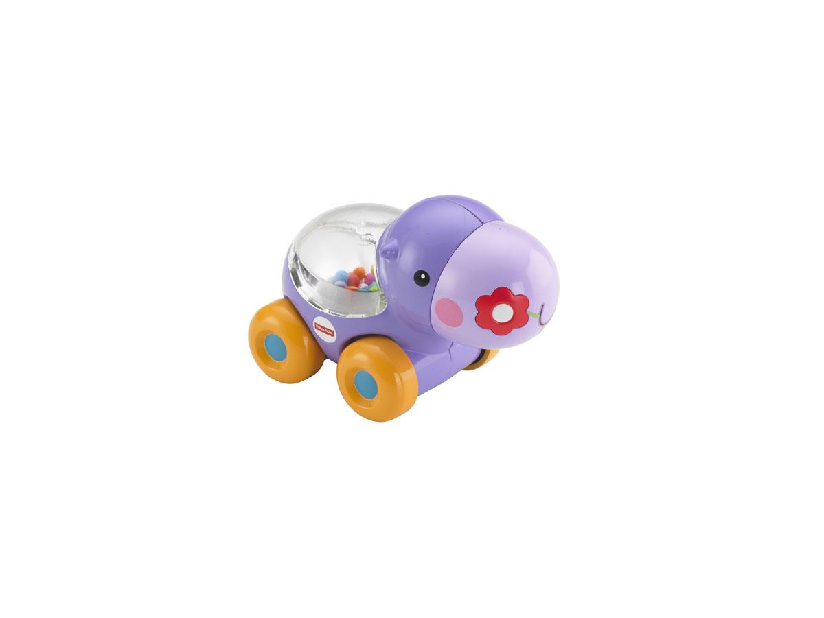 Fisher Price Развивающая игрушка Бегемотик с прыгающими шарикамиBGX29/BGX30Игрушка Fisher-Price Newborn Бегемотик с прыгающими шариками надолго займет внимание вашего малыша. Игрушка выполнена из безопасного пластика фиолетового и оранжевого цветов в виде забавного бегемотика на четырех колесиках. Внутри него под прозрачным окошком находятся красочные шарики, которые весело прыгают в то время, когда ребенок толкает бегемотика вперед или назад. Размер игрушки идеален для захвата детской ручкой и развития моторики рук.