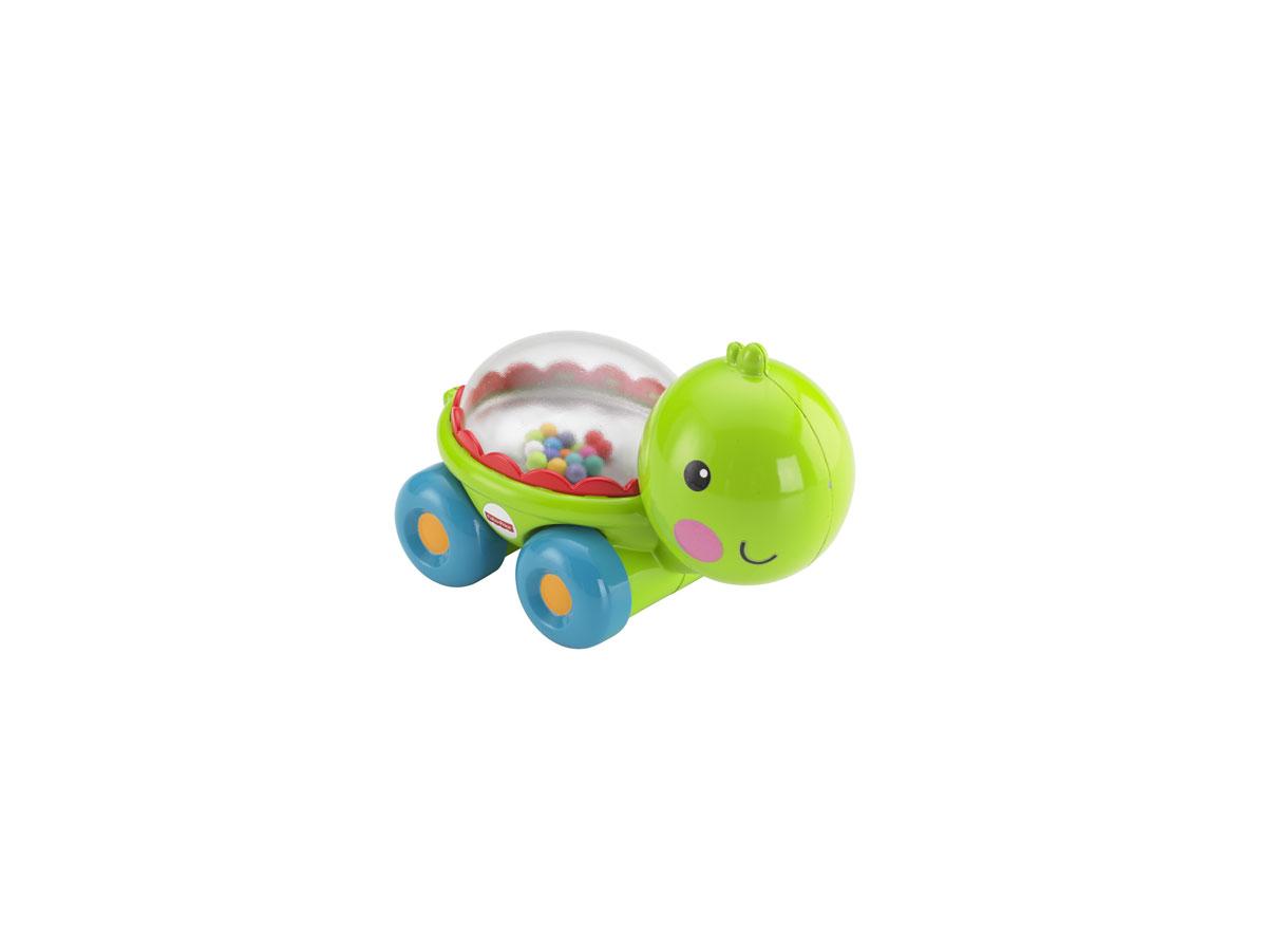 Fisher Price Развивающая игрушка Черепашка с прыгающими шарикамиBGX29/BFH75Игрушка Fisher-Price Newborn Черепашка с прыгающими шариками надолго займет внимание вашего малыша. Игрушка выполнена из безопасного пластика салатового и голубого цветов в виде забавной черепашки на четырех колесиках и предназначена для детей возрастом 6 до 36 месяцев. Внутри нее под прозрачным окошком находятся красочные шарики, которые весело прыгают в то время, когда ребенок толкает черепашку вперед или назад. Размер игрушки идеален для захвата детской ручкой и развития моторики рук.