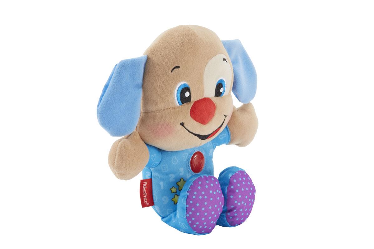 Fisher Price Смейся и учись Мягкая игрушка-ночник Ученый щенок, цвет: голубойBMC63/BMC64Мягкая игрушка-ночник Fisher-Price Ученый щенок прекрасно дополнит интерьер детской комнаты. Игрушка выполнена из приятного на ощупь материала в виде симпатичного щенка в голубой пижамке. Ребенок может прижаться и обнять эту славную игрушку, узнавая о цветах, цифрах, формах и многом другом! Когда малыш готов ко сну, он может нажать на кнопку в виде сердца, чтобы услышать успокаивающую колыбельную (10 минут проигрывания) и увидеть мягкий свет (3 минуты свечения). На животике щенка расположена кнопка, при нажатии на которую малыш услышит веселые фразы или обучающие фразы. На груди щенка имеется кнопка с рельефным изображением сердечка. Если на нее нажать, то она будет светиться мягким светом, и игрушка будет воспроизводить приятные мелодии. Игрушка-ночник Ученый щенок не только будет охранять вашего ребенка во время сна, но еще станет его любимой игрушкой. Характеристики: Материал: текстиль, пластик. Рекомендуемый возраст: от 6 до 36...