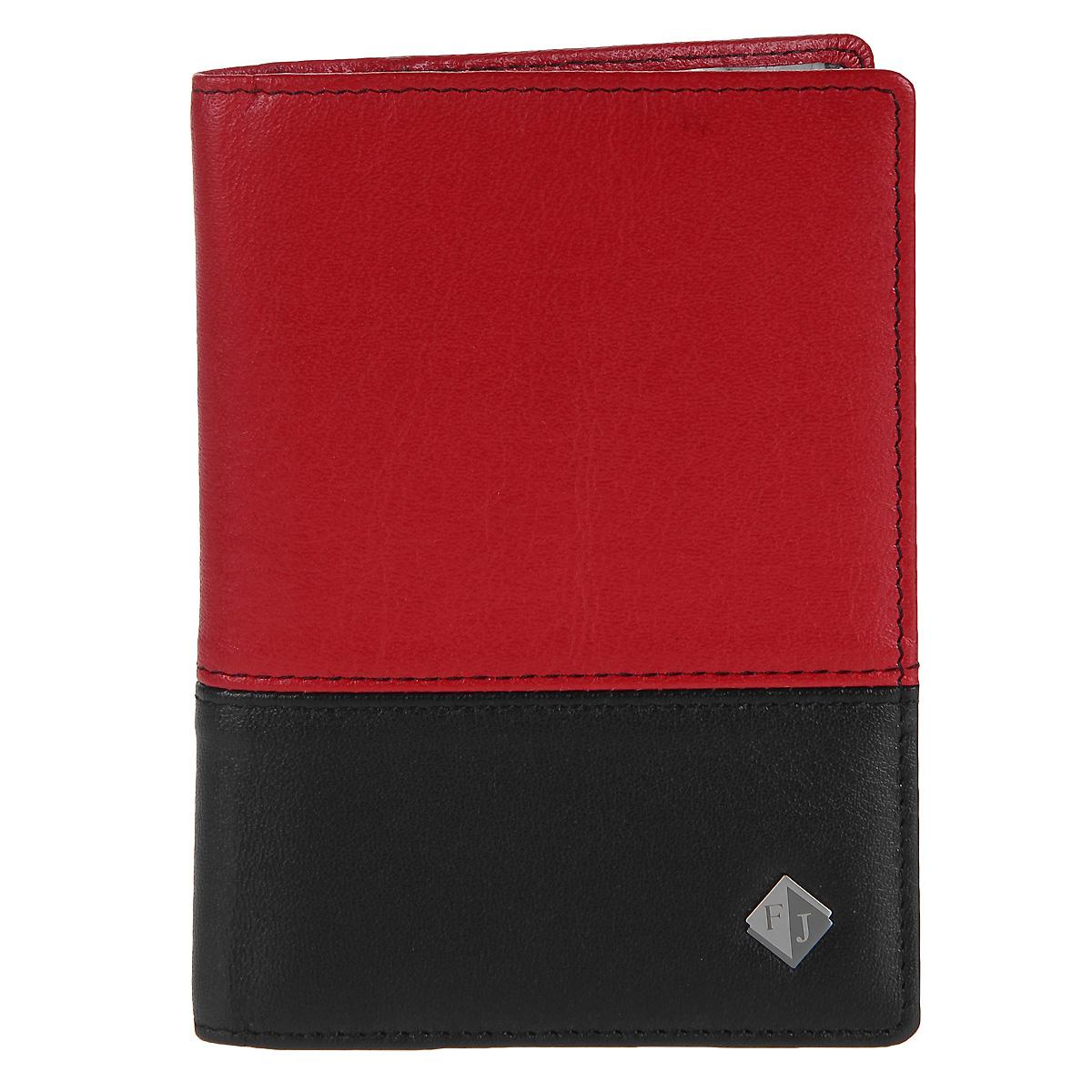 Обложка на паспорт Flioraj, цвет: черный, красный. 2113-14547/145462113-14547/14546 ОбложкаОбложка для паспорта Flioraj выполнена из высококачественной натуральной кожи черного и красного цветов. Обложка не только поможет сохранить внешний вид ваших документов и защитить их от повреждений, но и станет стильным аксессуаром, идеально подходящим вашему образу. Такая обложка станет отличным подарком для человека, ценящего качественные и необычные вещи.