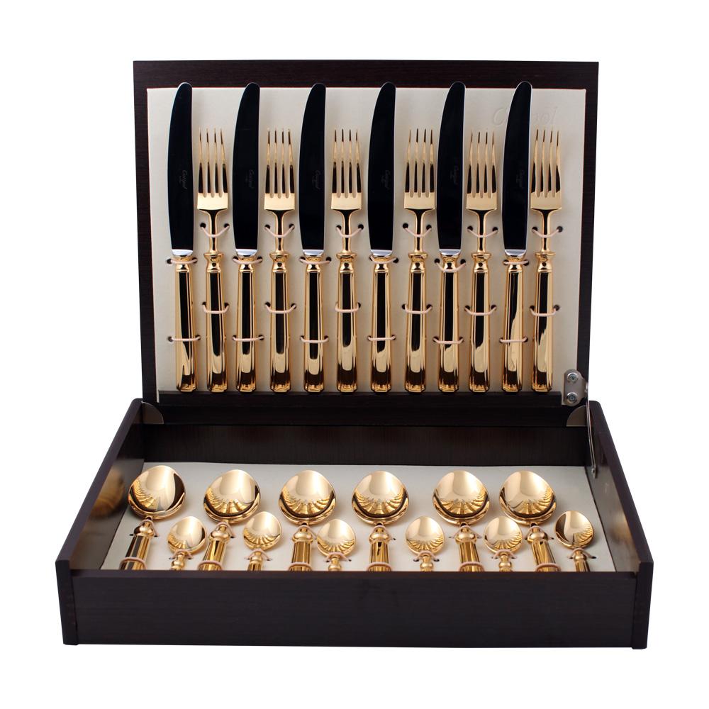 Набор столовых приборов Piccadilly Gold набор 24 предмета 914191419141 PICCADILLY GOLD Набор 24 пр. Характеристики: Материал: сталь. Размер: 405*295*65мм. Артикул: 9141.