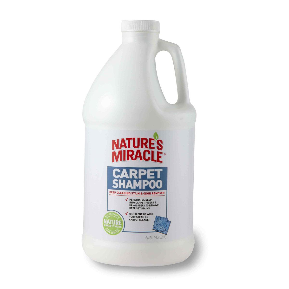 Моющее средство для ковров и мягкой мебели 8 in 1 Natures Miracle, с нейтрализаторами аллергенов, 1,8 л5055545Моющее средство для ковров и мягкой мебели 8 in 1 Natures Miracle - оптимальное решение для тех, кто хочет эффективно удалить с ковра пятна и запахи, оставленные животными. Средство можно использовать самостоятельно или вместе с пылесосом, оно глубоко проникает в ворс ковра, вытаскивая на поверхность новые и застарелые пятна, запахи и аллергены. Наша бесфосфатная формула с низким уровнем пенообразования удаляет все загрязнения и освежает ковры. Моющее средство для ковров может использоваться для удаления с ковров пятен и запахов, оставленных собаками, кошками и другими животными. Внимание! Перед применением необходимо протестировать поверхность на цветоустойчивость. Способ применения: тщательно пропылесосить поверхность. Хорошо встряхните бутылку. Используйте моющее средство для ковров и мягкой мебели в соответствии с инструкциями на пылесосе или пароочистителе. Не рекомендуется использовать моющее средство для очистки вельветовой, шелковой, ...