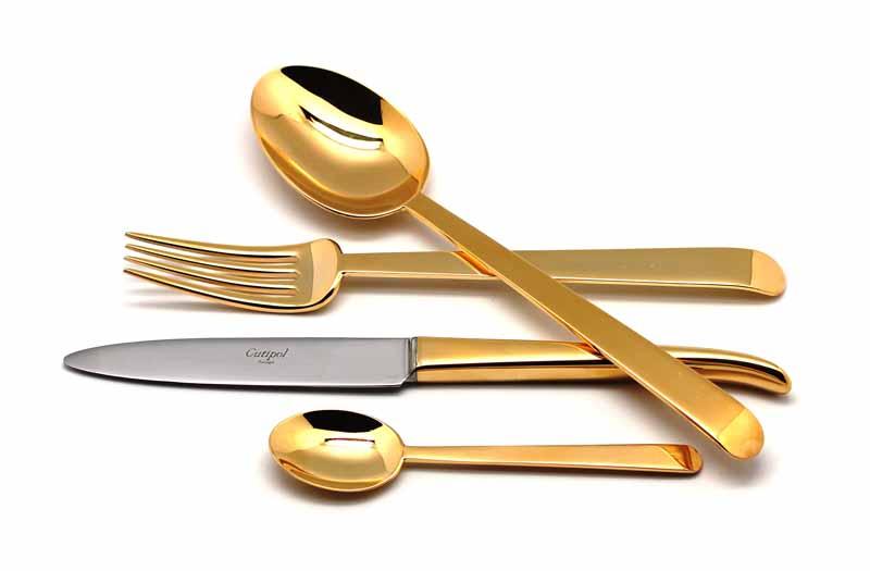 Набор столовых приборов Ergo Gold, 24 предмета91219121 ERGO GOLD Набор 24 пр. Характеристики: Материал: сталь. Размер: 405*295*65мм. Артикул: 9121.