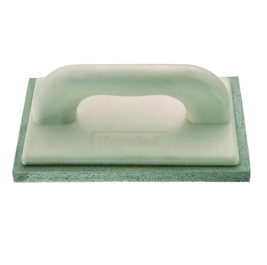Терка штукатурная Kapriol с мелкой губкой, 14 см х 21 см23036Терка штукатурная с мелкой губкой Kapriol используется для финишного выравнивания и последующего затирания раствора на рабочую поверхность. Особенности: Полотно - пористая губка средней жесткости; Рукоятка - полиуретан.