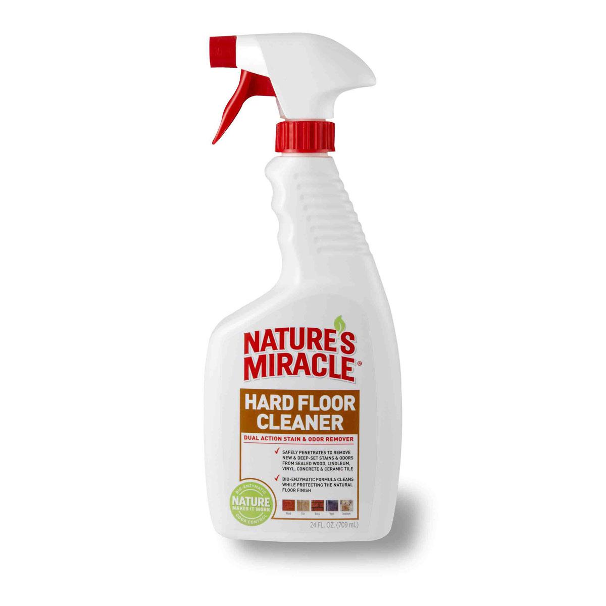 Уничтожитель пятен и запахов для всех видов полов 8 in 1 Natures Miracle, 709 мл5055538Уничтожитель пятен и запахов для всех видов полов 8 in 1 Natures Miracle специально разработан для безопасного удаления с твердых поверхностей пятен и запахов от фекалий, мочи, жира, рвоты и других свежих и въевшихся органических загрязнений за счет био-энзимной чистящей формулы. Благодаря специальной технологии Finish-Protect, средство осуществляет глубокую очистку, защищая при этом покрытие пола, будь то дерево, керамическая плитка, винил или линолеум. Уничтожитель пятен и запахов для всех видов полов можно также использовать на твердых поверхностях, переносках, спальных местах животных и в кошачьих туалетах. Средство идеально справляется с пятнами и запахами, оставленными собаками, кошками и другими животными. Способ применения: 1) Перед применением хорошо встряхните. 2) Удалите излишнюю влажность и грязь. 3) Перед использованием протестируйте средство на незаметной области. Вытрите поверхность тканью. Не используйте средство, если покрытие...