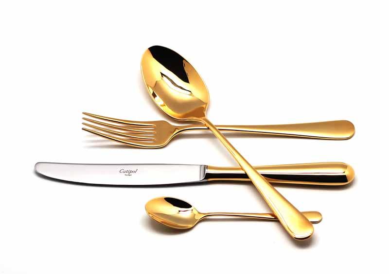 Набор столовых приборов Cutipol Alcantara Gold, 24 предмета92919291 ALCANTARA GOLD Набор 24 пр.