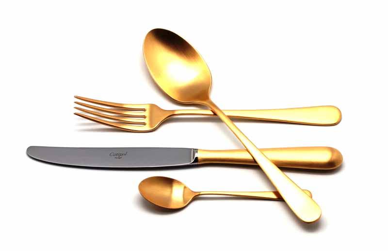 Набор столовых приборов Cutipol Alcantara Gold, цвет: золотистый матовый, 24 предмета92929292 ALCANTARA GOLD мат. Набор 24 пр. Характеристики: Материал: сталь. Размер: 405*295*65мм. Артикул: 9292.