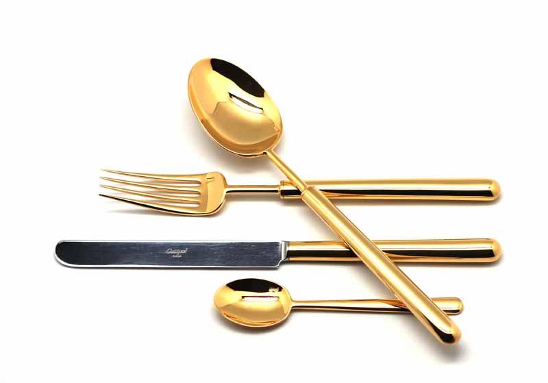 Набор столовых приборов Cutipol Bali Gold, 24 предмета93119311 BALI GOLD Набор 24 пр.
