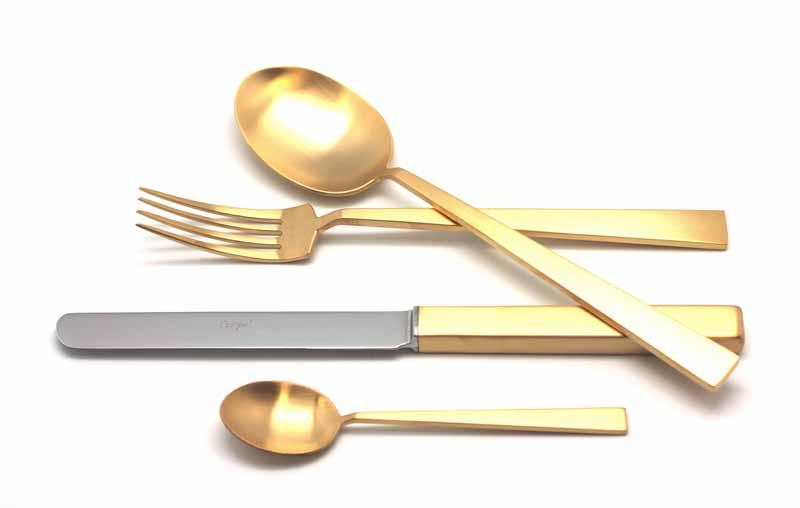 Набор столовых приборов Bauhaus Gold мат. набор 24 предмета 932293229322 BAUHAUS GOLD мат. Набор 24 пр. Характеристики: Материал: сталь. Размер: 405*295*65мм. Артикул: 9322.