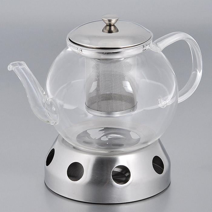Чайник заварочный Bradex Маленькая Англия, с подставкой. TK 0017TK 0017Заварочный чайник Bradex Маленькая Англия изготовлен из прочного термостойкого стекла. Крышка и ситечко выполнены из нержавеющей стали. В комплекте имеется специальная подставка. Чтобы напиток в заварочном чайничке не остыл, в подставку можно поместить маленькую круглую свечку, что будет поддерживать нужную температуру чая или кофе, и вам не придется постоянно подливать горячую воду. Чайник Маленькая Англия идеально подойдет для чаепитий в небольшом кругу близких и друзей, создавая еще более комфортную атмосферу для общения. Он станет еще одной составляющей вашего домашнего уюта, благодаря которой ощущение гармонии и умиротворения передастся любому, заглянувшему к вам на чашечку чая!