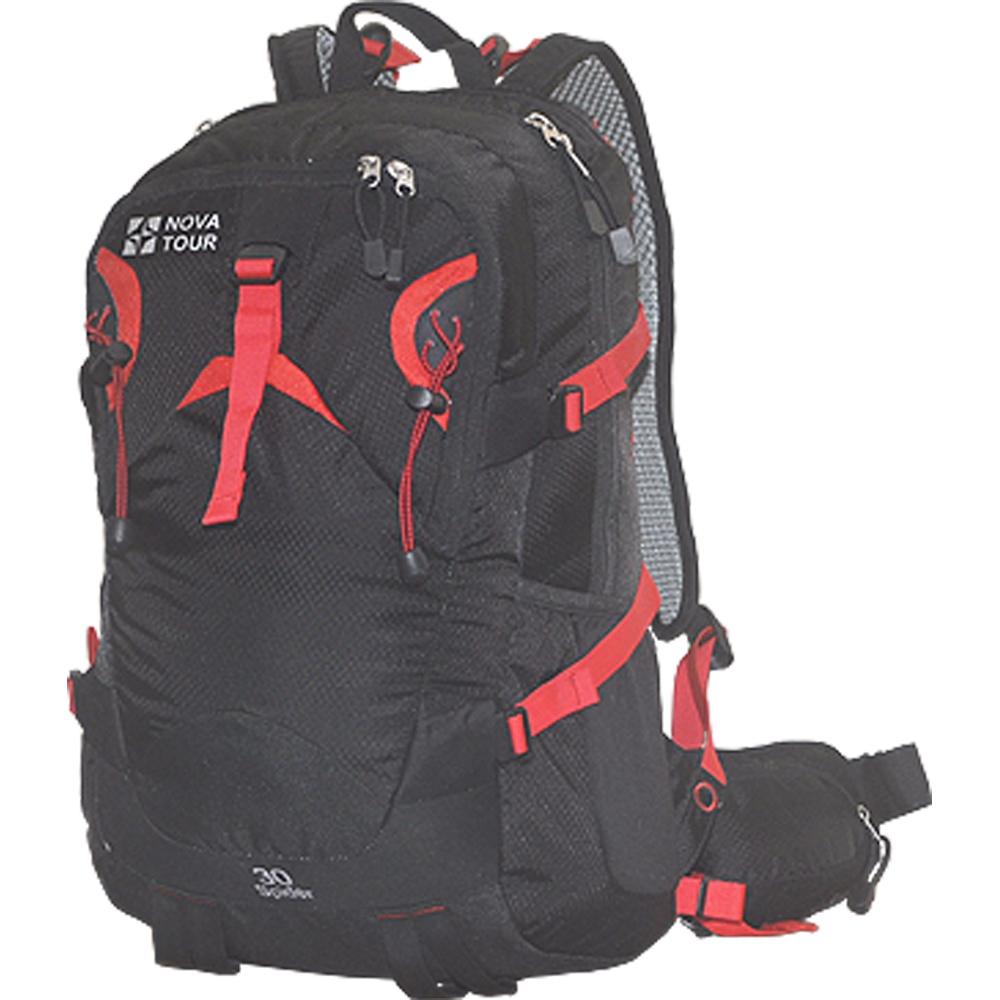 Рюкзак городской Nova Tour Блэк Спайдер 30, цвет: черный13452-901-00Стильный рюкзак для занятий спортом и активного отдыха. Для комфорта при повседневневном ношении, предусмотрена новая удобная система подушек с регулируемыми лямками и съемной вставкой для жесткости спинки. Приятным дополнением к основному отделению служит органайзер, карабин для ключей и отделение для гидратора. Всем необходимым мелочам найдется место в кармане на фасадной части, в двух боковых эластичных карманах, карманах на лямке и поясе рюкзака. Характеристики: Материал: Poly Oxford 420D Ripstop, фурнитура PVC. Размер рюкзака: 51 см х 31 см х 18 см. Объем: 30 л. Цвет: черный. Размер упаковки: 40 см х 30 см х 20 см. Артикул: 13452-901-00.